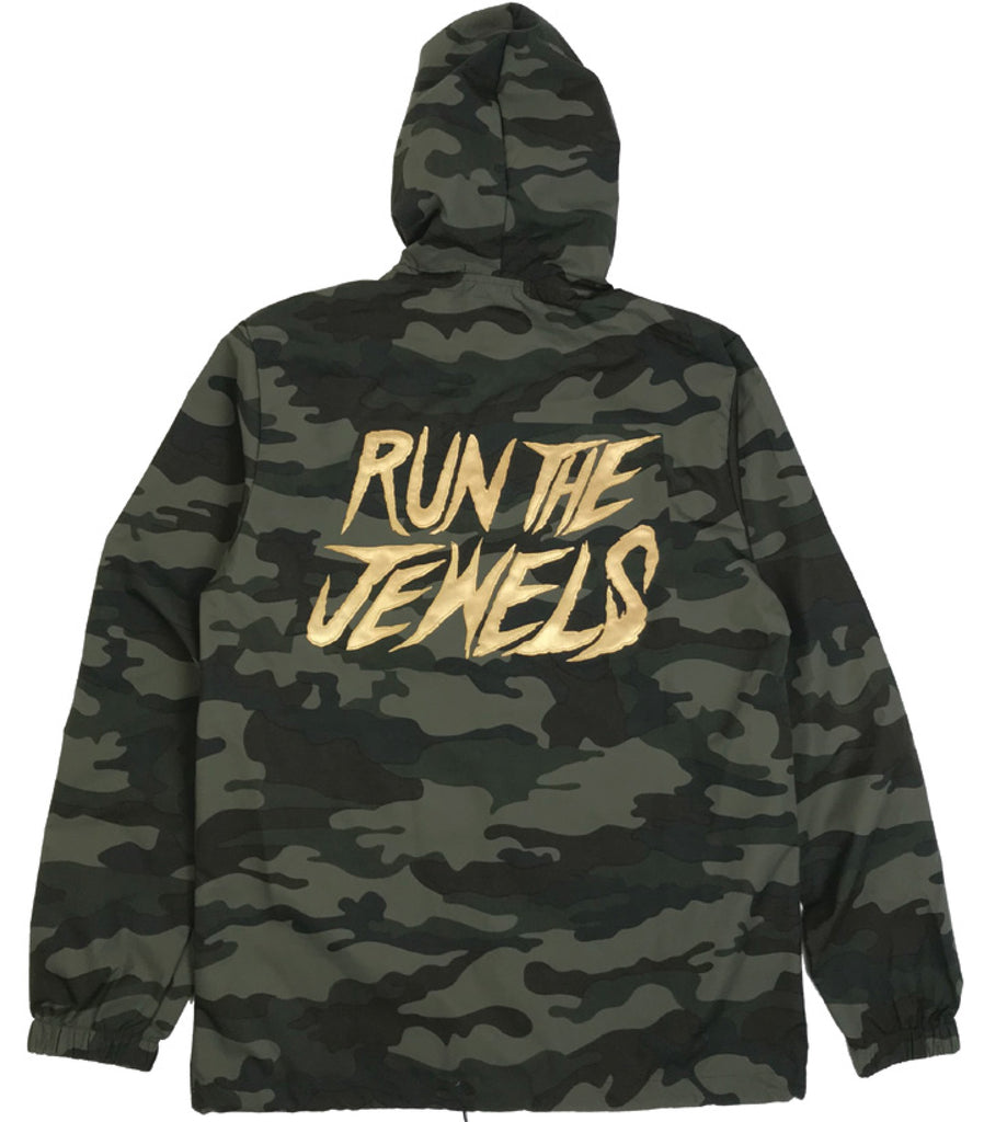 Stay Gold Camo Coach Jacket