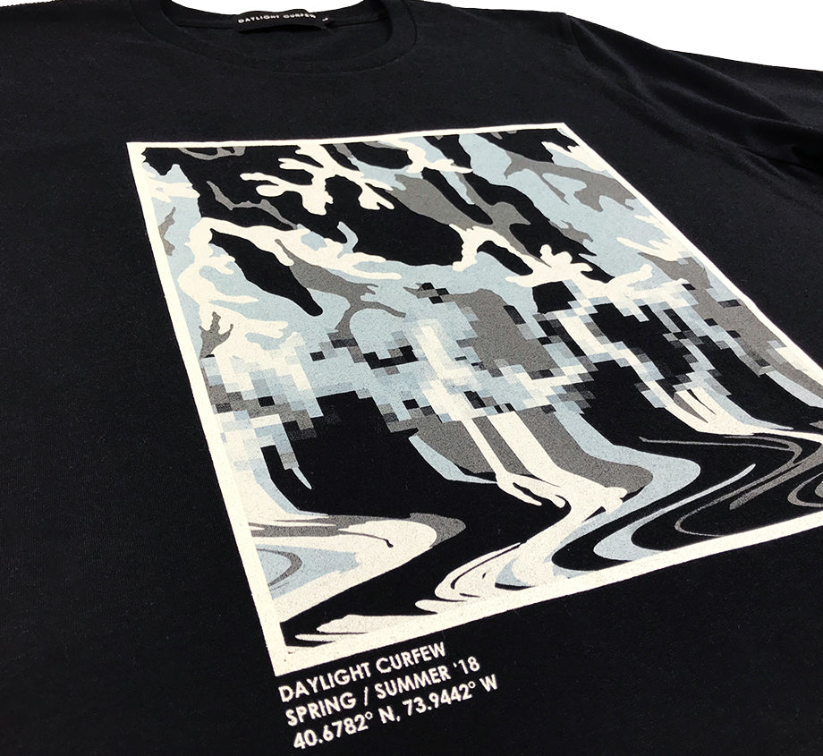 Fluid Camo T-shirt (Black/Blue)