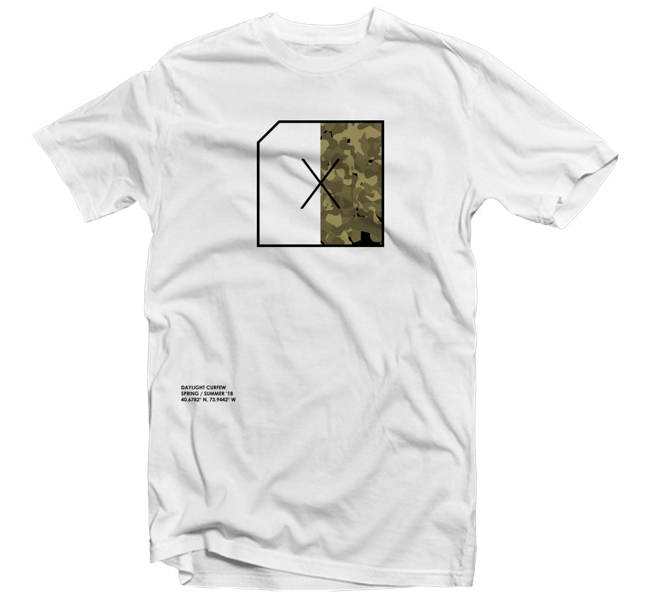 Split Camo T-shirt - (White)