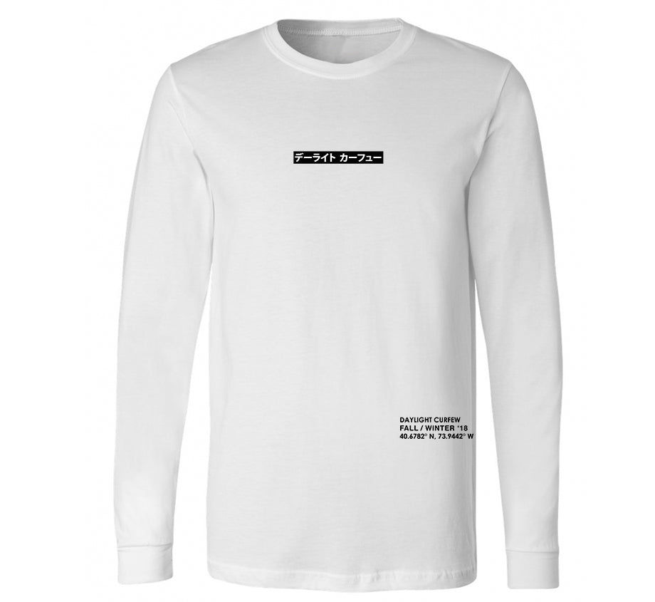Chapter One Long Sleeve T-shirt (White)