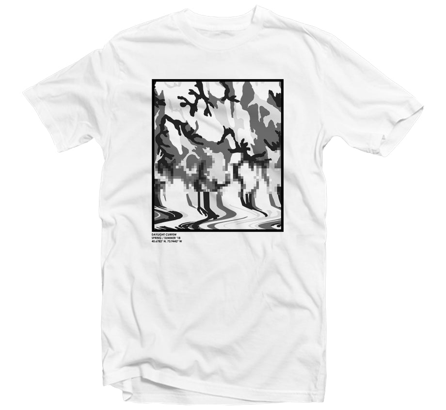 Fluid Camo T-shirt - (White)