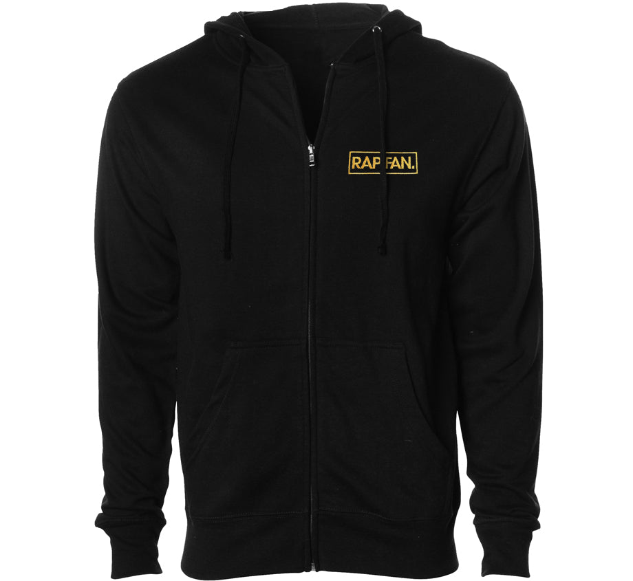 Golden Era Embroidered Zip Up Hoodie
