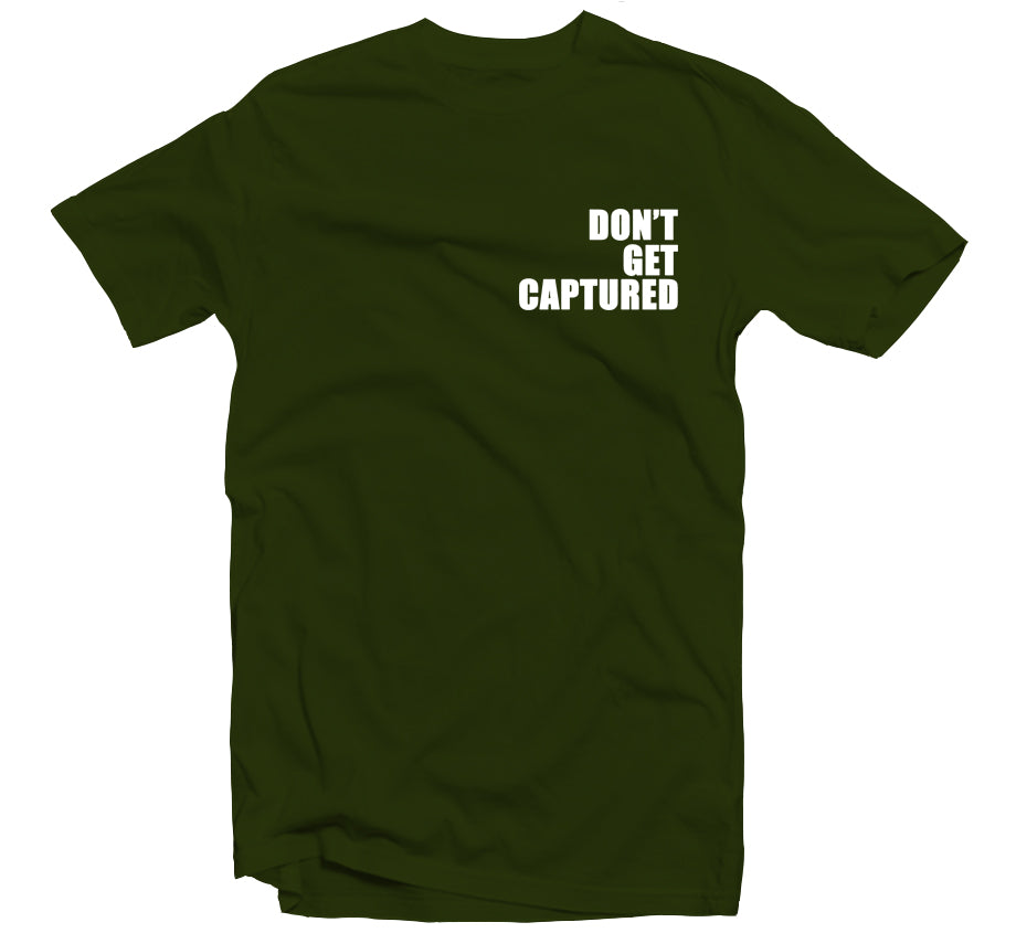Don't Get Captured T-shirt (Block White)