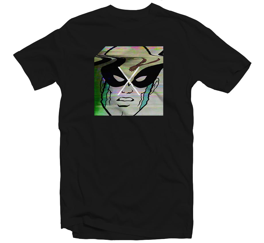 Glitch Birdman T-shirt (Black)