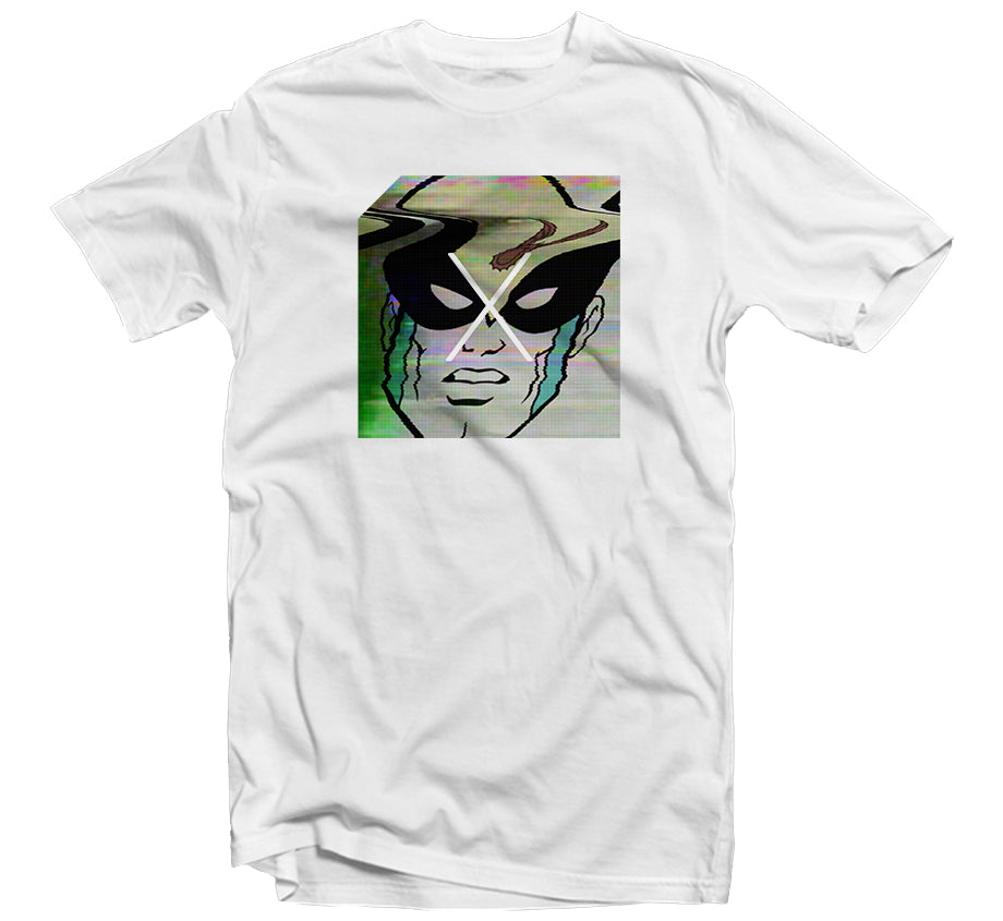 Glitch Birdman T-shirt (White)