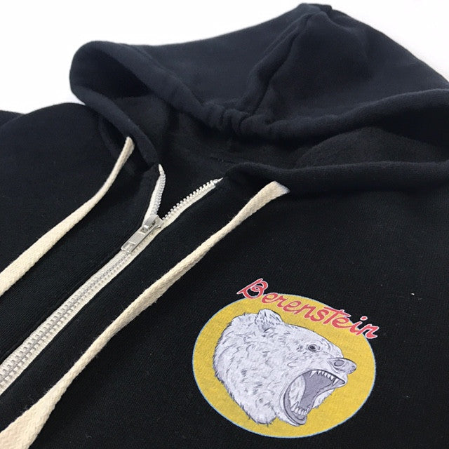 Berenstein Zip Up Hoodie - Black