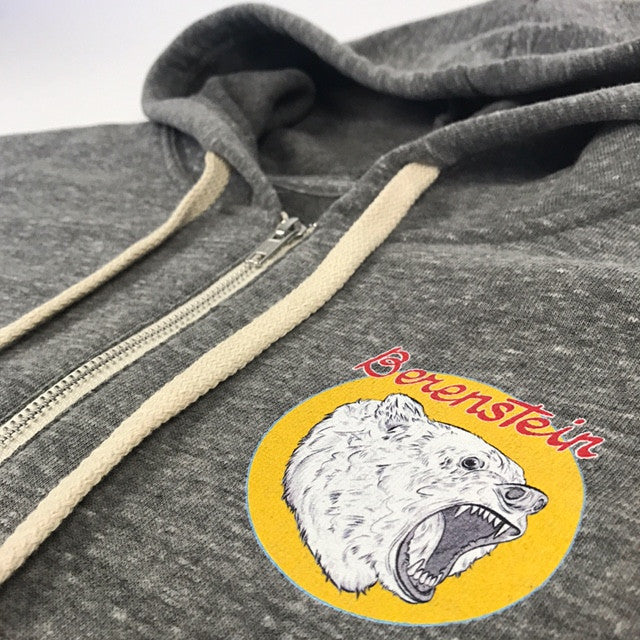 Berenstein Zip Up Hoodie - Heather Grey
