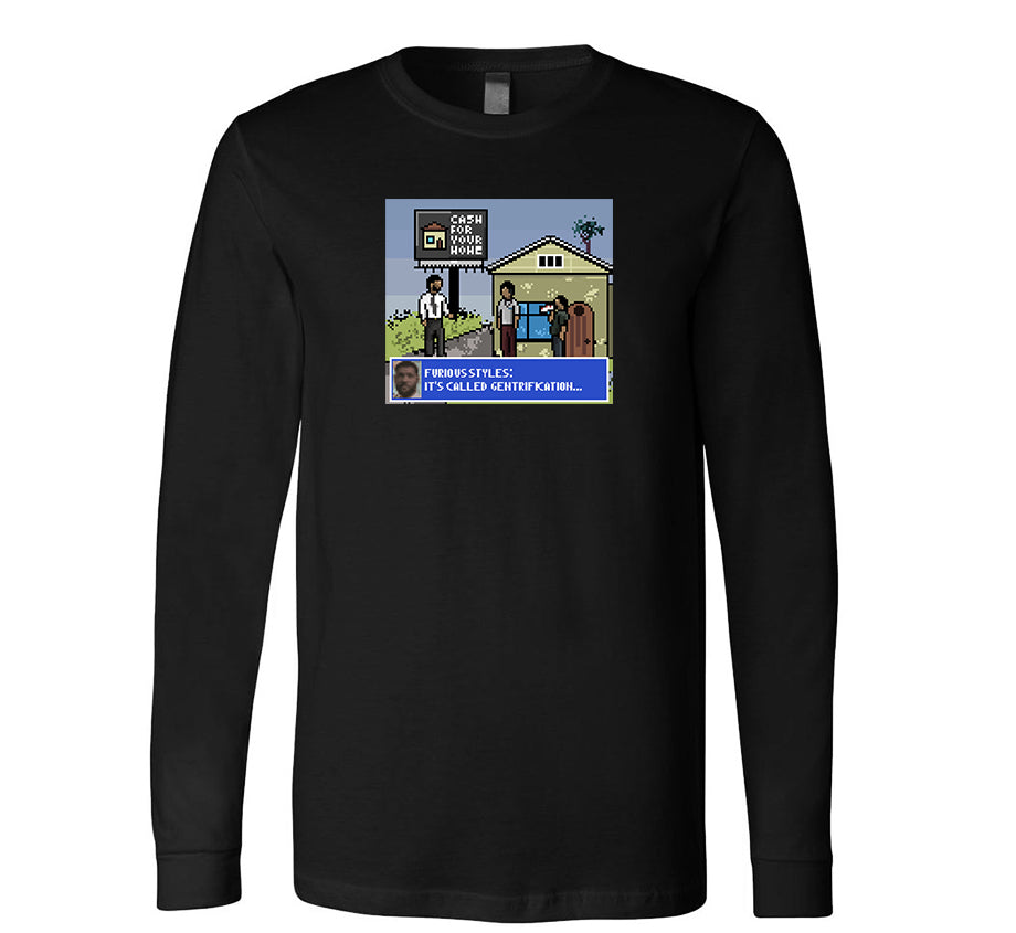 Not A Game Long Sleeve T-shirt (Black)