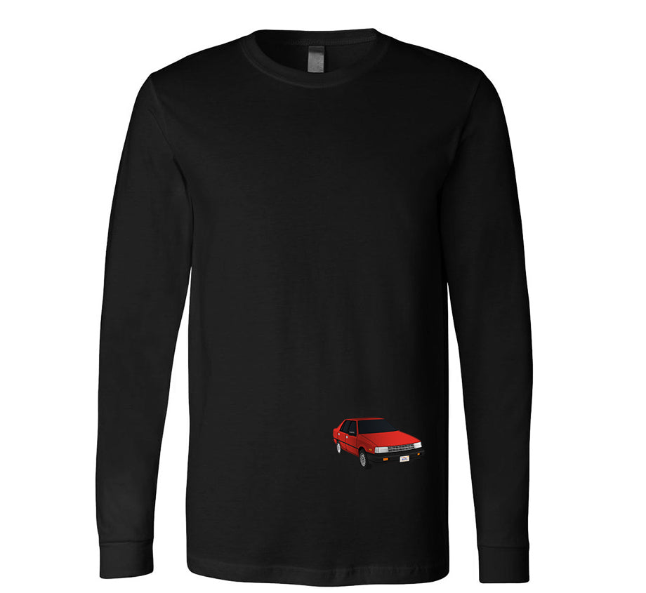 Watch Your Back Long Sleeve T-shirt (Black)