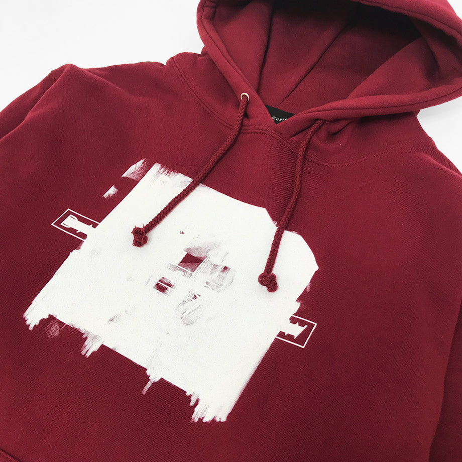 White Washed Hoodie (Burgundy)