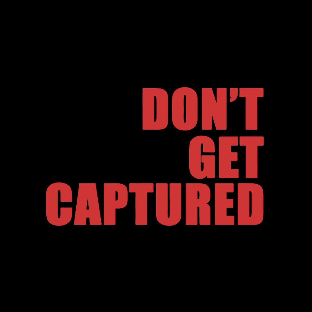 Don't Get Captured T-shirt (Block Red)