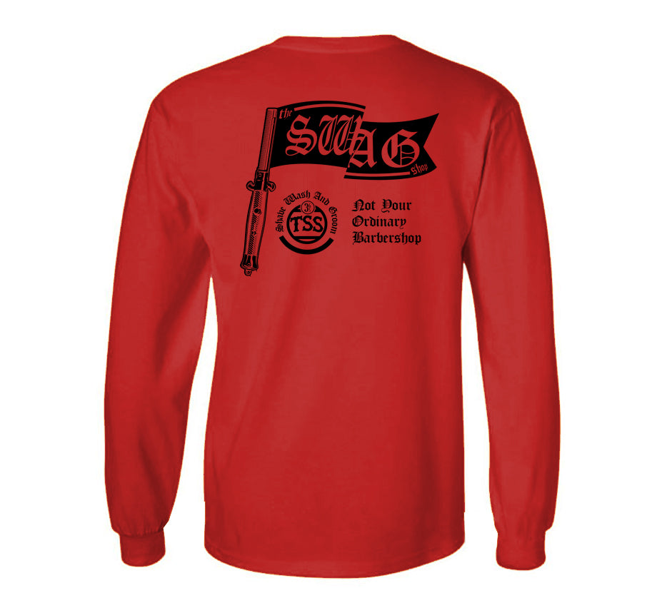 Switch Comb Red Long Sleeve T-shirt