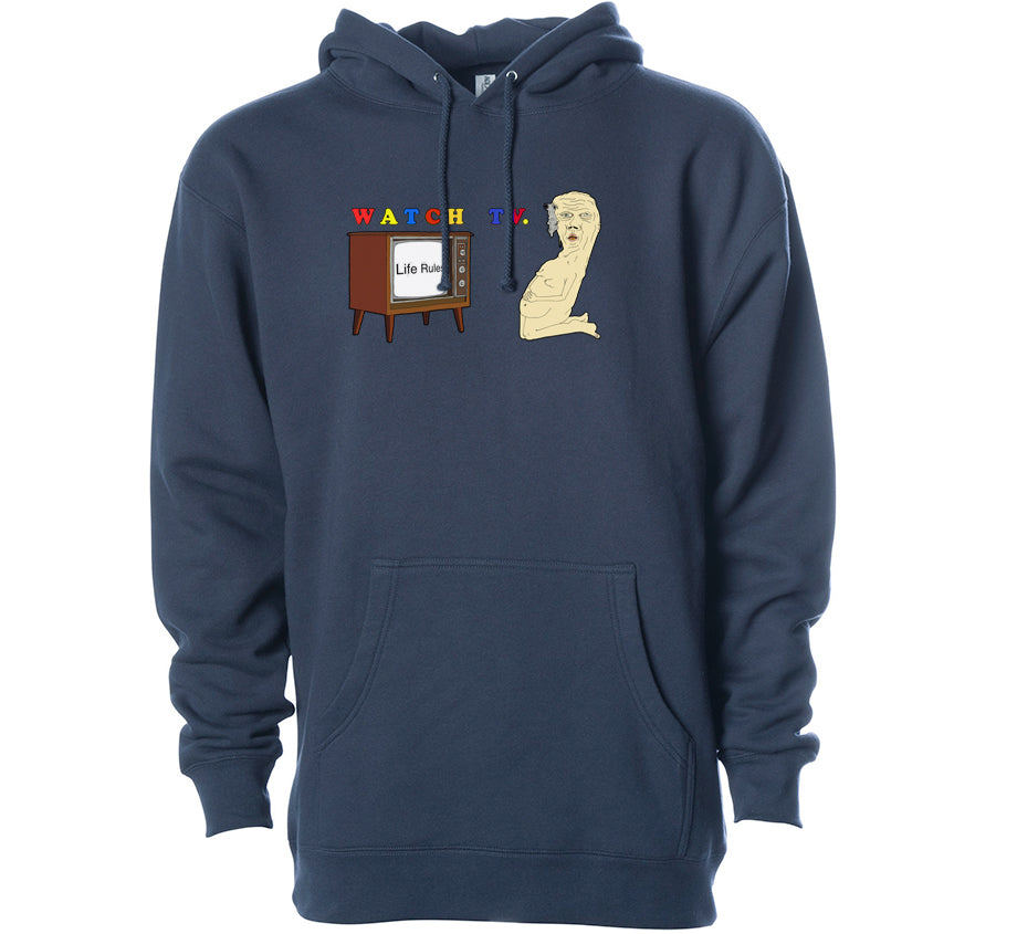 Watch TV Hoodie (Slate Blue)