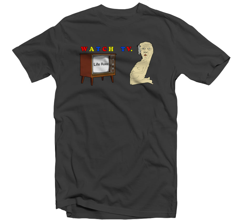 Watch TV T-shirt (Asphalt)