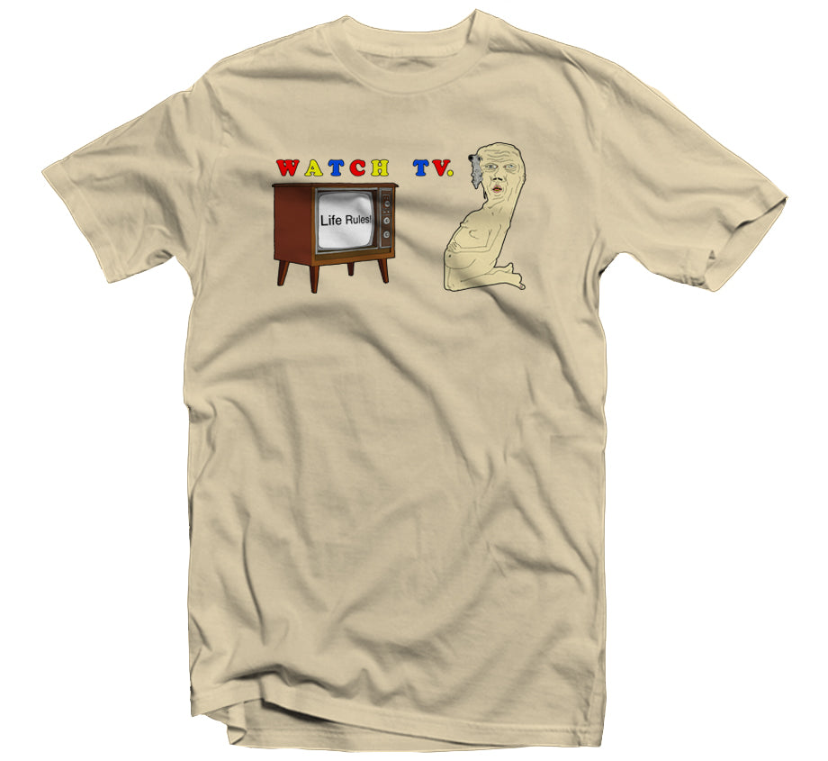 Watch TV T-shirt (Creme)