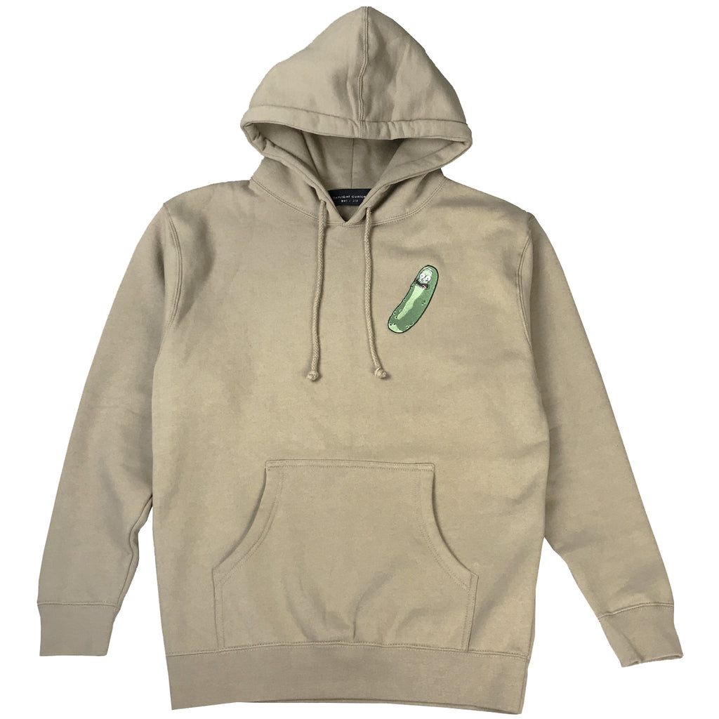Official Pickle Rick Embroidered Hoodie - Tan (Edition of 100)