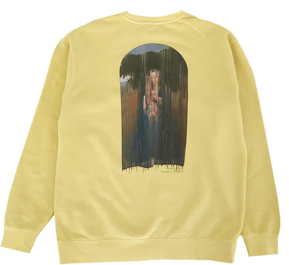 Glitched Renaissance Pigment Dyed Crewneck (Yellow)