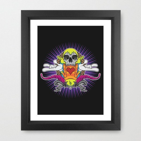 Art - No More Happy Face - Bishop203 - Limited Ed. Print
