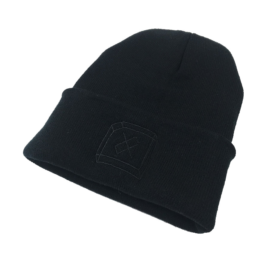 3D - Black on Black Beanie