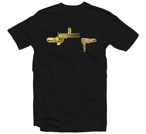Golden Rick T-shirt (Black)
