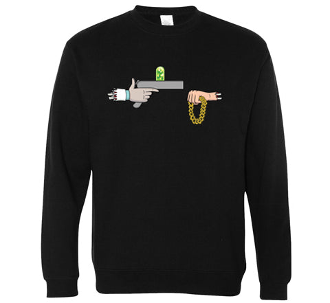 Official Rick The Jewels Crewneck - Black