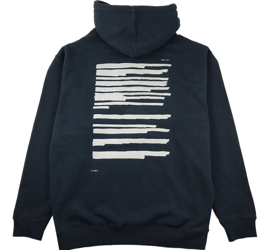 Freedom Of Information Embroidered Hoodie (Slate Blue)