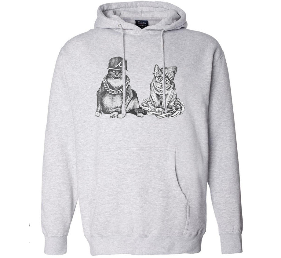 Two Catz Hoodie (Heather Grey)