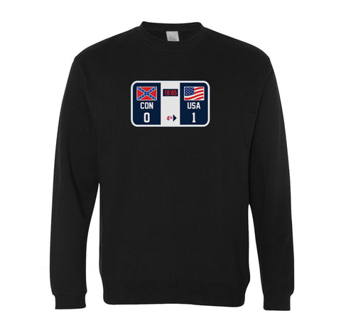 Winners and Losers (Check The Scoreboard) Crewneck - Black