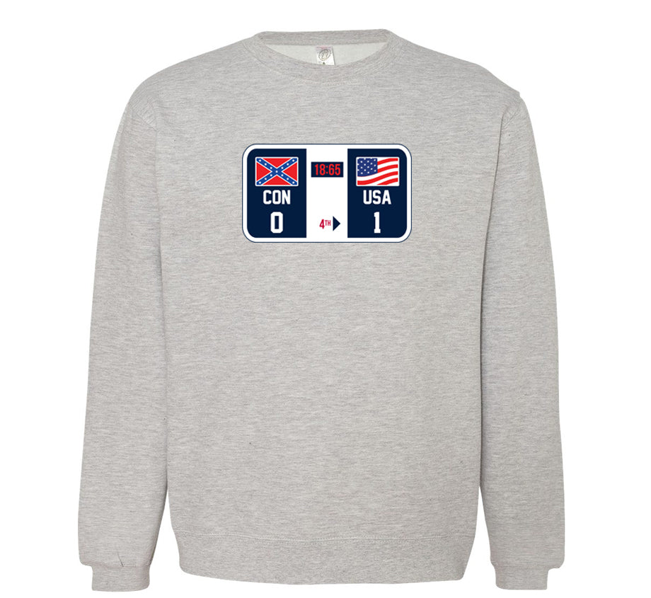 Winners and Losers (Check The Scoreboard) Crewneck - Heather Grey