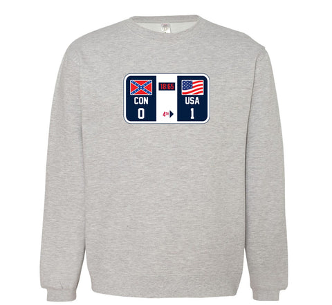 Winners and Losers (Check The Scoreboard) Crewneck - Grey