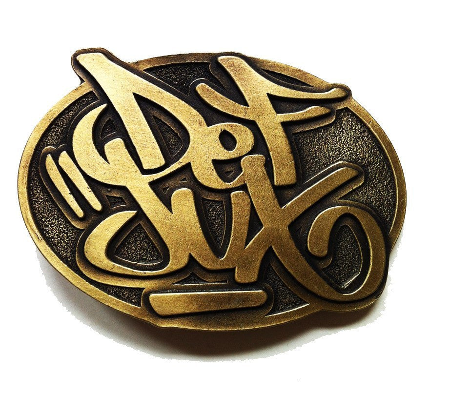 Def Jux - Def Jux Belt Buckle -Brass