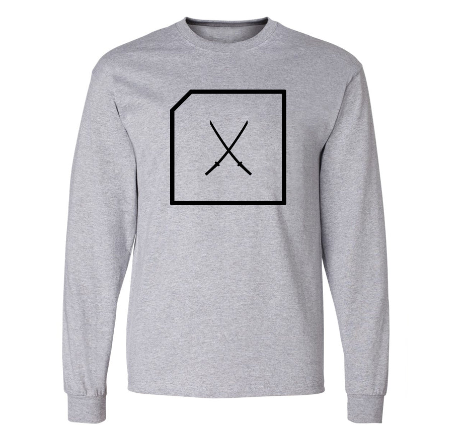 Katana Logo Long Sleeve T-shirt (grey)