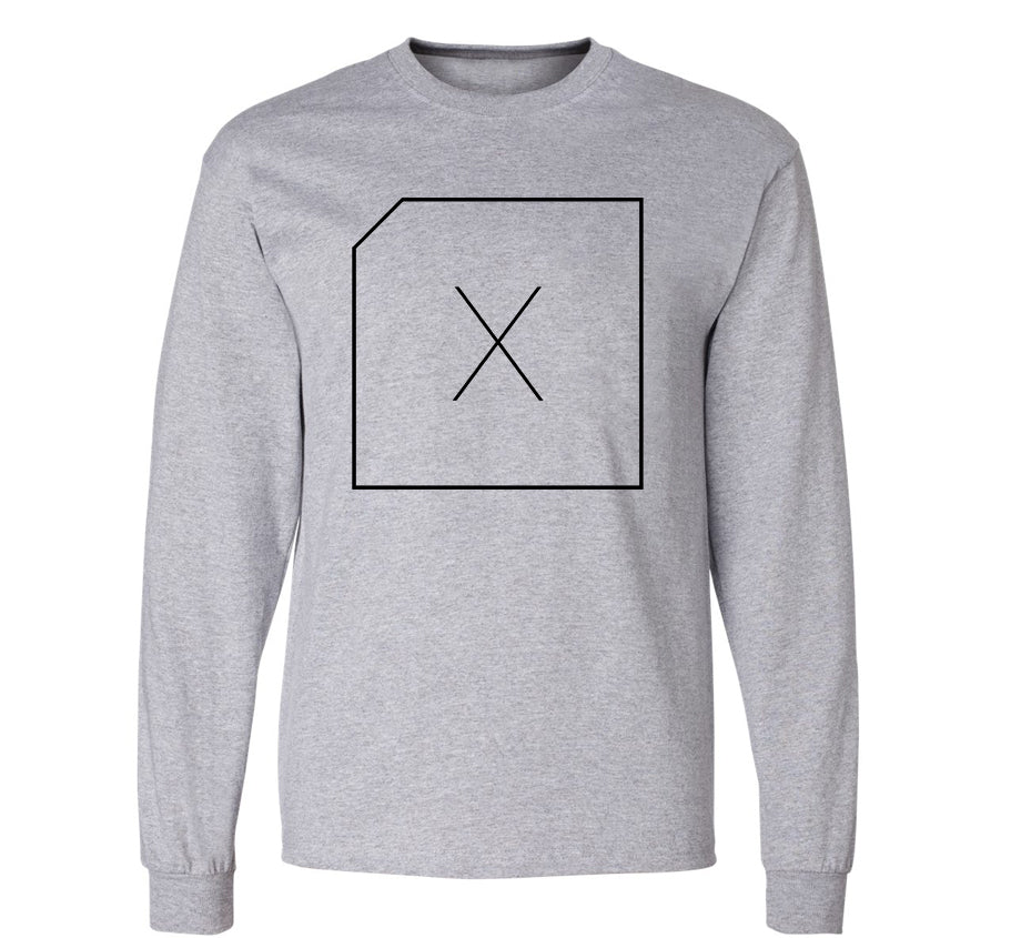 DLC Box Logo Long Sleeve T-shirt (grey)