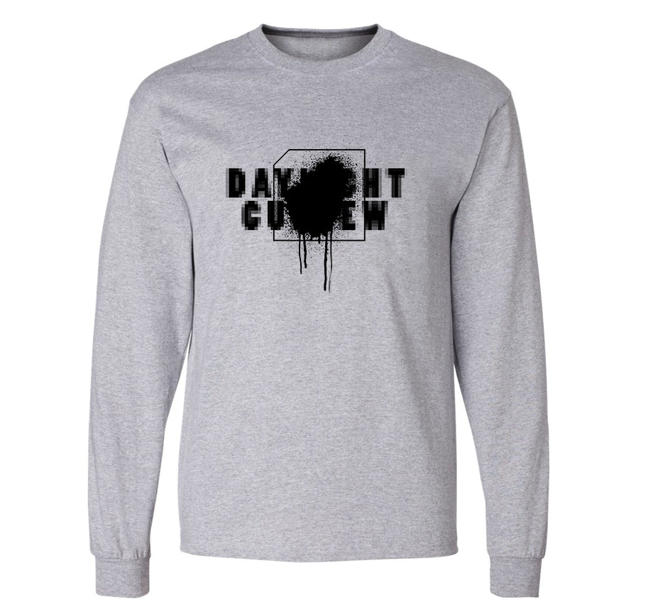 DLC Splatter Long Sleeve T-shirt (grey)