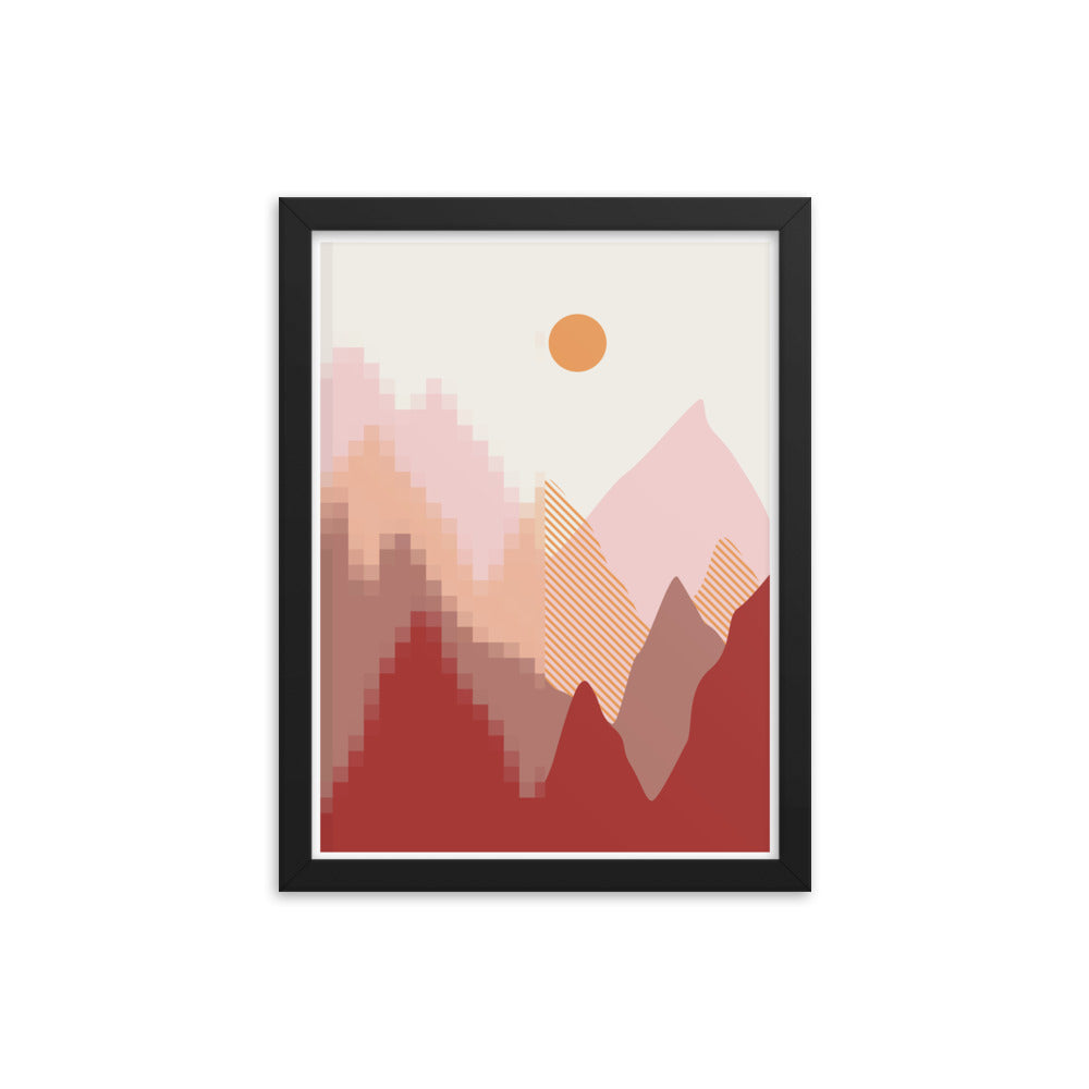 Digital Horizon - Framed Print