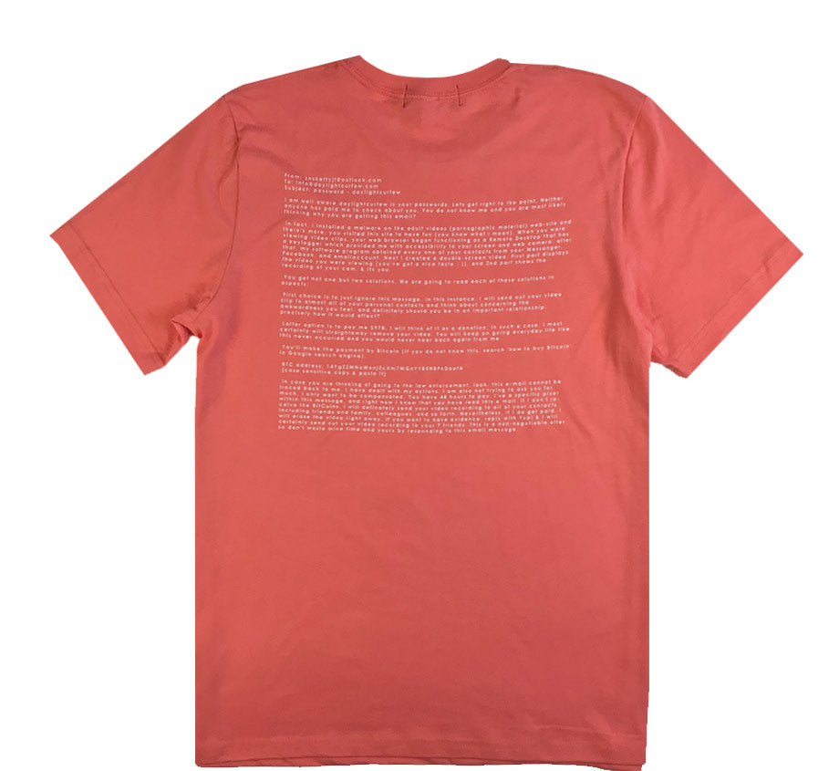 Webcam T-shirt (Coral)