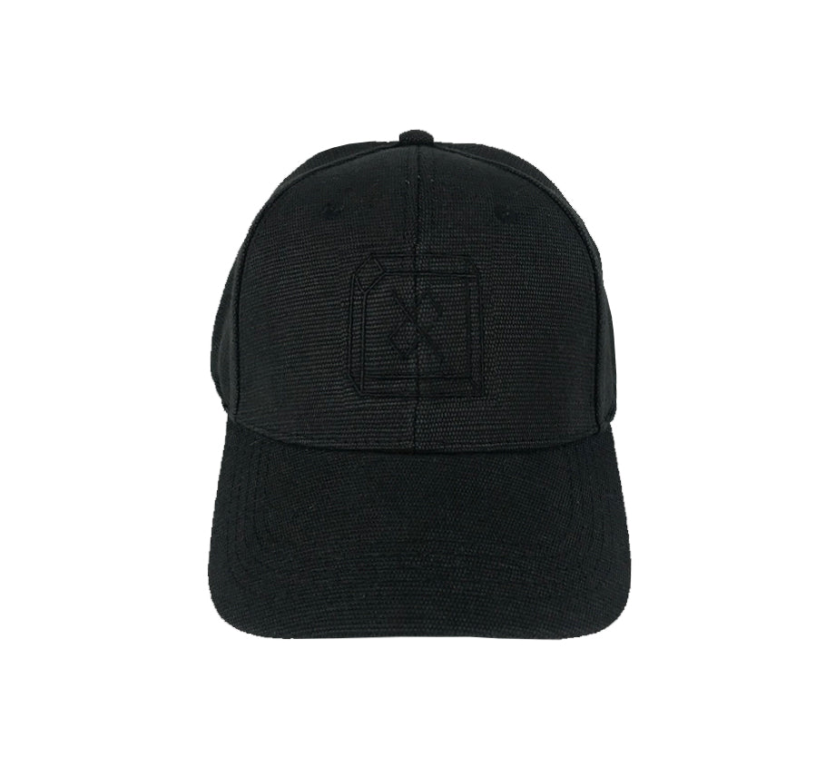 3D - Black on Black Hemp Snapback