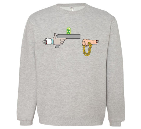 Official Rick The Jewels Crewneck - Heather Grey
