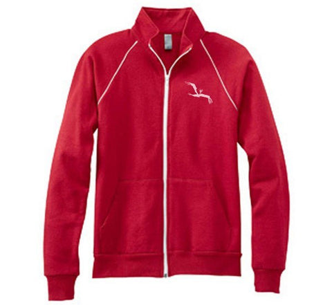 Hoodie - Bird Fleece Jacket (red)