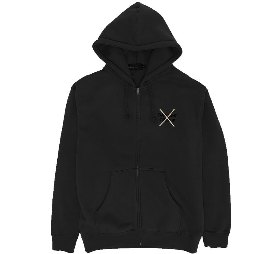 Royalty Zip Up Hoodie (Black)