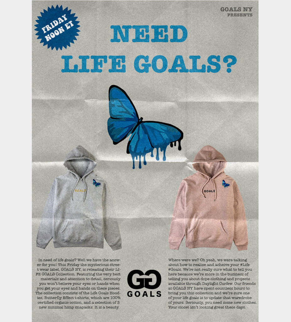 Life Goals Hoodie (Heather Grey)