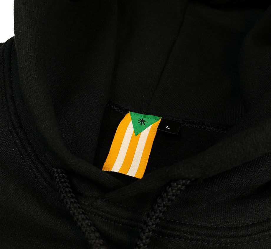 Wiki Embroidered Flag  Hoodie