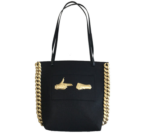 Stay Gold Bag - (Thick Chain)