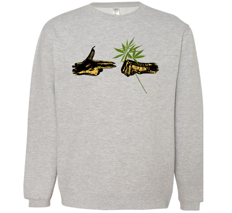 Run The Jewels 420 Crew Sweatshirt - Heather Grey