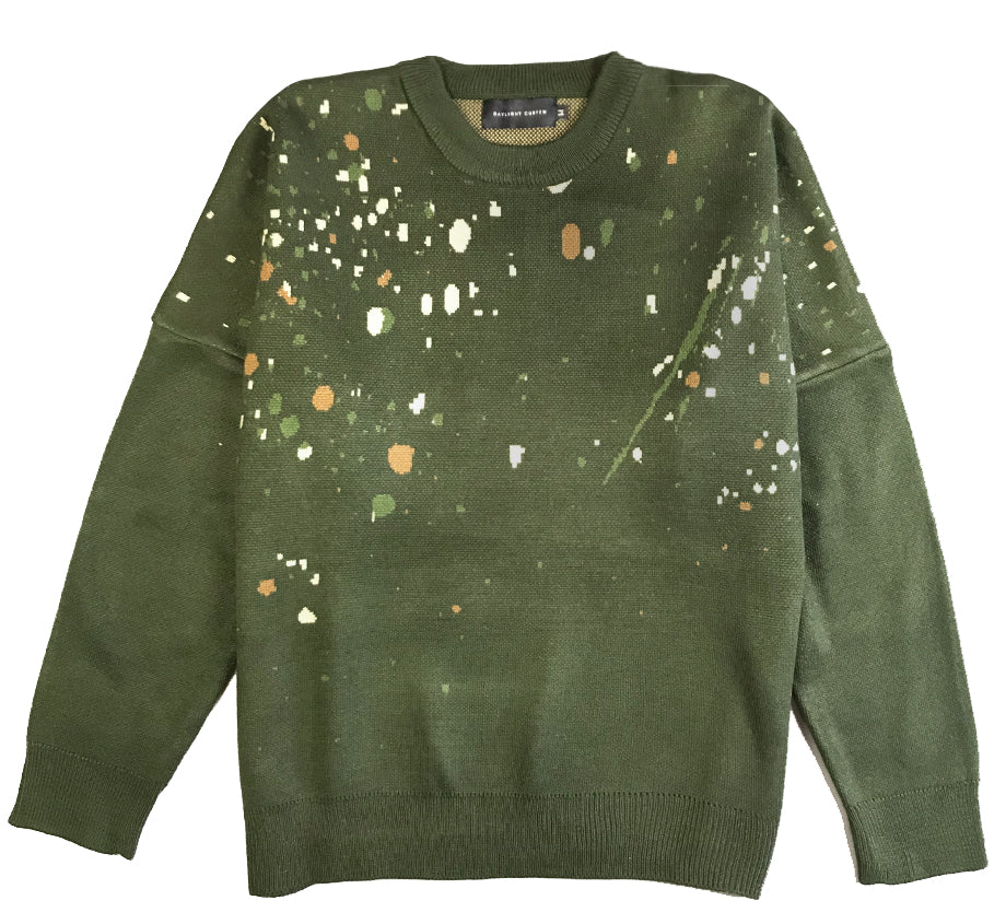 Camo Paint Knit Sweater