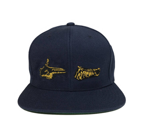 Stay Gold Snapback (Navy)