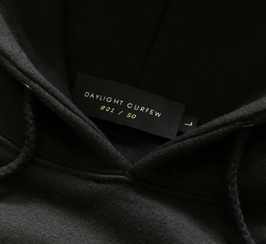 The Attorney Hoodie - Edition of 50 / Woven Numbered (Black)