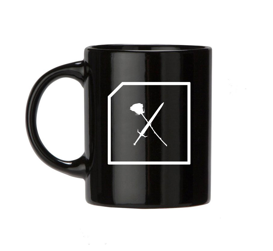 Swords and Roses Mug (Black)