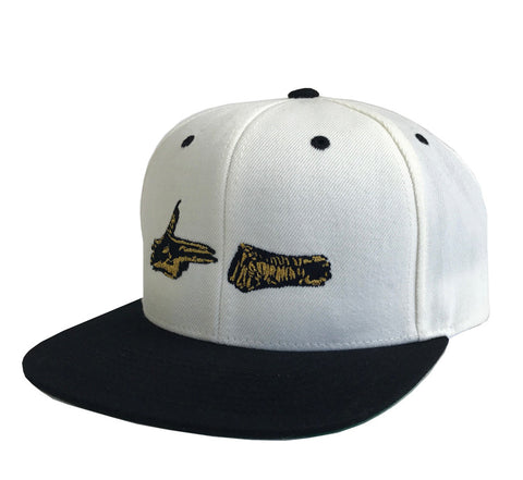 Stay Gold Snapback - (Cream/Black)