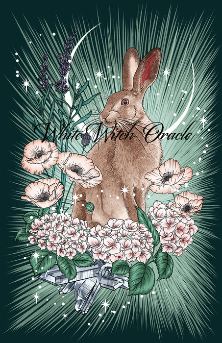 Luna Hare Greeting Card